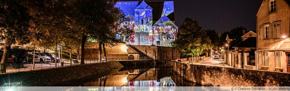 Chartres en Lumières en canoë